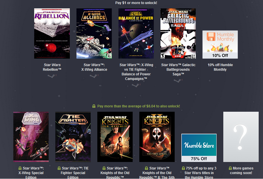humble bundel star wars