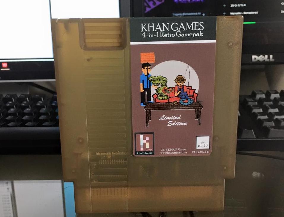 Une compilation de jeux Nes produit par KHAN Games en version cartouche pour bientôt