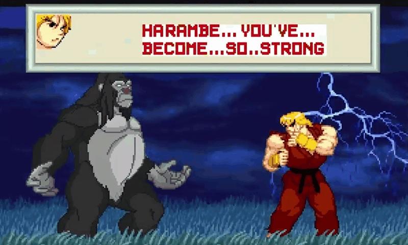 Gare au gorille avec Harambe VS Capcom
